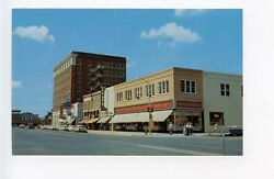 Laverne Ok Street View Coca Cola Woolworth Vintage Store Fronts Old Car Postcard
