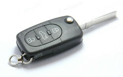Remote Flip Folding Key Shell Case For Audi A3 A4 A6 A8 TT 3 Buttons 4D0837231N