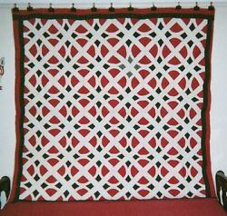 Railroad Crossing Quilt 76 X 76 C.1860-75 New Hampshire. Cottons.