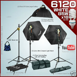 Studio Photo Video Flora Continuous Light Kit Stand Boom Photography 80051
