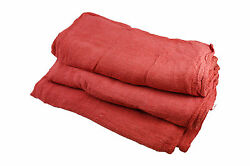 10000 Pieces Red Cotton Shop Towel Rags**INDUSTRIAL GRADE**New Wipers - 4 Bales