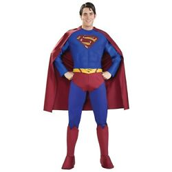Superman Costume Adult Superhero Halloween Fancy Dress