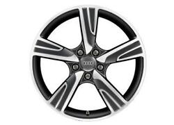 Genuine Audi A3 8v 18 Velum Alloy Wheels Anthracite - New A3 Only 2012