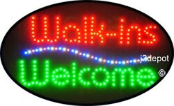 Us Seller Animated Walk-ins Welcome Led Sign Neon. Video Inside. 21x13-1/2
