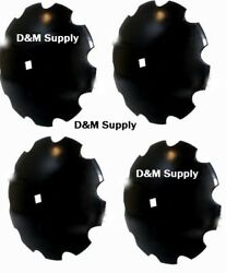 4 Pack Disc Harrow Blade 18 Notched Fits 1 - 1 1/8 Axle Fits Many Brands