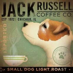 Jack Russell Coffee Co. by Stephen Fowler Animals Dogs Art Print Poster