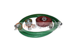 2 Green Fcam X Mp Water Suction Hose Trash Pump Complete Kit W/100and039 Red Dis