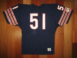 1980s Authentic Dick Butkus Bears Sand-knit Jersey Home 44 Pro-line