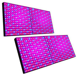 4-pack Hqrp 225 Led Grow Light Panel Hydroponic Plant Lamp Blue And Red