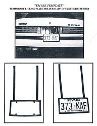 Lot Of Temporary License Plate Holders