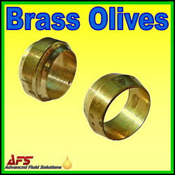 Brass Barrel And Stepped Olives Metric Or Imperial Tubing Nylon Pipe Compression