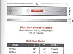 14 Long Edwards Ironworker Flat Shear Blades For 55 And 60 Ton Ironworkers