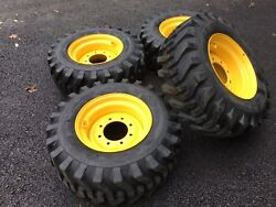 4 New Camso 12x16.5 Tires And Rims For New Holland John Deere Gehl Mustang