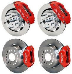 Wilwood Disc Brake Kit1956 Chevy Corvette12 Rotors6/4 Piston Red Calipers