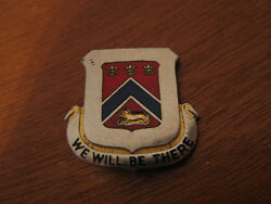 Antique 223rd Field Artillery Illinois National Guard We Will Be There Pin