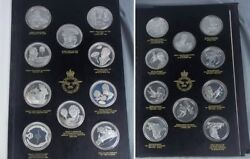 1973 John Pinches RAF Museum History Of Flight 50 Silver Medallions 60 Tr Oz
