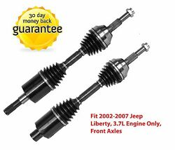 Pair: 2 New Front CV Axles Driver & Passenger Sides Fit 02-07 Jeep Liberty 3.7L