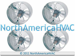 4x 12 Round In-line Air Duct Booster Fan 115 Volt T9-mcm12 T9-db12 Db12 800 Cfm