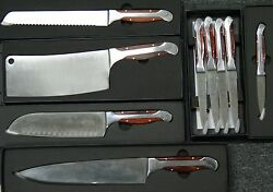 Set Of 9 Executive Chef Series Hammer Stahl Knives. 100 Genuine Brand New