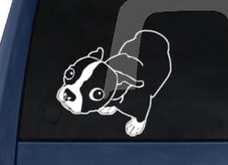 Dog Breed - Molly the Boston Terrier - Car Tablet Vinyl Decal