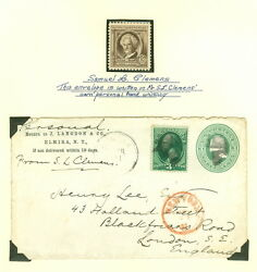 Samuel Clemens Mark Twain Autograph On Cover To England Brookman 3750.00