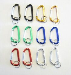 12 NEW CARABINER SPRING CLIP KEYCHAINS BACKPACK BELT KEY RING CHAINS  3
