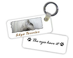 Skye  Terrier    The  Eyes Have It   Key  Chain