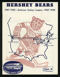 1967-68, The Hershey Bears Vs The Buffalo Bisons, Ahl Program And Guide