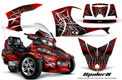 Can-am Brp Spyder Rt Rt-s Graphics Kit Creatorx Decals Spiderx Red Sxrb