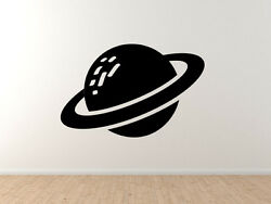 Space Icon- Ringed Planet Saturn Toon Extraterrestrial - Vinyl Wall Decal