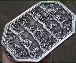 Chinese Export Silver Mirror Solid Silver Finest Quality Very Rare