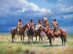 Waiting On The Wolves Martin Grelle Grande Edition Fine Art Giclee Canvas