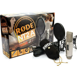 RODE NT2-A Cardioid Condenser Microphone Studio Bundle Recording Package NT2A