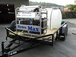 Hot Water Pressure Washer Trailer Mounted-8gpm4000psi-Diesel Engine