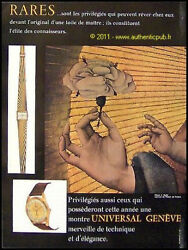 Publicite Ancienne 1960 Montre Universal Geneve J Hyde Rare French Watch Ad