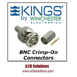 Bag-100 Kings 2065-2-9 75 Ohm Bnc Connector - Belden 1505a 1506a And Gepco Vpm2000