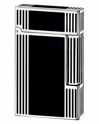 S.t. Dupont Ligne Line 2 Lighter Palladium And Black Chinese Lacquer Windsor 16727