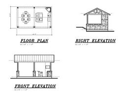 Outdoor Bbq Kitchen Bar / Cabana / Pool House / Pavilion Plan 22and039w X 13and039-6and039d