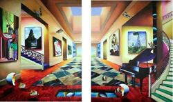 Perfect Afternoon Diptych By Ferjo - Limited Edition Giclee On Canvas