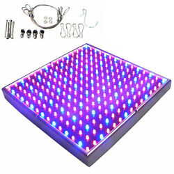 Hqrp 225 Led Blue Red Indoor Garden Hydroponic Plant Grow Light Panel 13.8w
