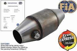 Fia Approved 5 Catalytic Converter 100cpsi For Group N Race Cars / Inlet 2.5
