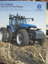 New Holland TM115 125 130 TM150 TM165 tractors brochure 32 pages very nice