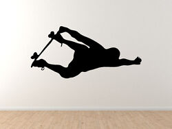 Jump Skate 1 - Flying Aerial Trick Action Sport Silhouette - Vinyl Wall Decal