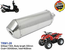 Motorcycle Performance Oval Exhaust Muffler For Scooter Atv Enduro 110 28mm
