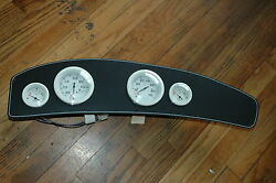 Complete Gauge Panel 24 1/2 X 5 1/4 With 4 White Gauges New