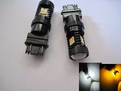 2 pairs  3157  22W high power LED White Amber Switchback Bright