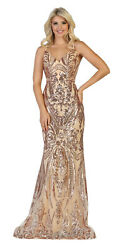 RED CARPET SLEEVELESS HOMECOMING EVENING GOWN FORMAL SEQUINS PAGEANT PROM DRESS  $149.99