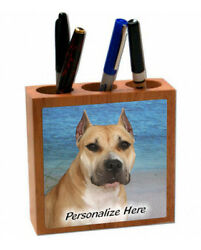 Staffordshire Bull Terrier fawn color  (7)  Personalized  Pencil and Pen Holder