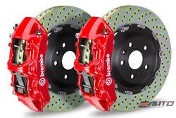 Brembo Front GT Brake BBK 6pot Red 380x34 Drill Rotor Ferrari 550 575 96-05