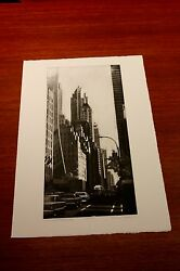 Fifty Seventh Street Looking East An Etching By Richard Haas
